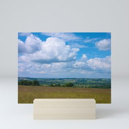 Looking across the Cotswolds, England Mini Art Print