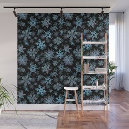 """""""Embroidered"""" Snowflakes Wall Mural"""