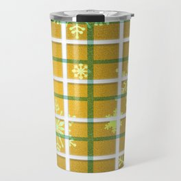 Gamboge Sycamore Snowflakes Travel Mug