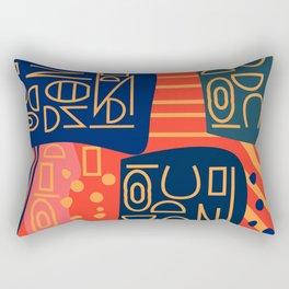 Strange alphabet Rectangular Pillow