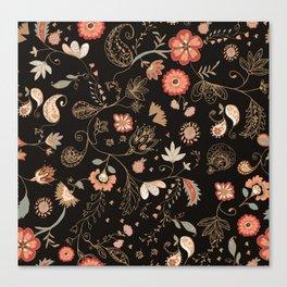 Paisley Florals Canvas Print