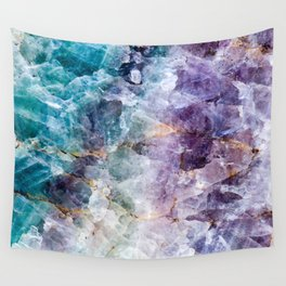 Quartz Stone - Blue and Purple Wall Tapestry