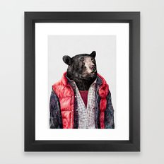 Black Bear Framed Art Print