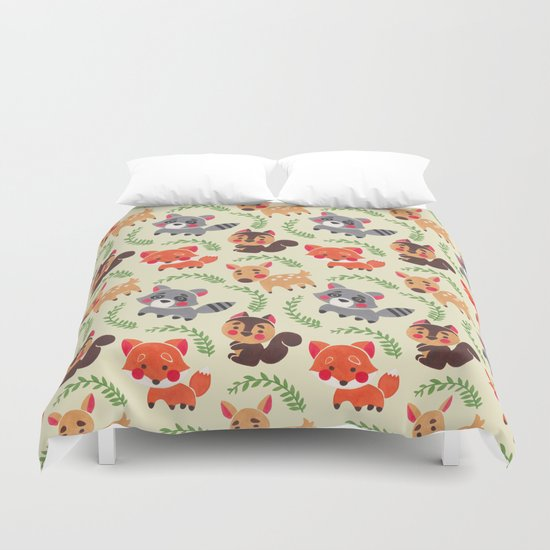 The Happy Forest Friend Duvet Cover