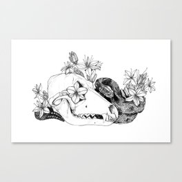 My Regrets Follow You to the Grave Canvas Print