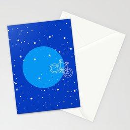 Night Sky Moon Bike  Stationery Cards
