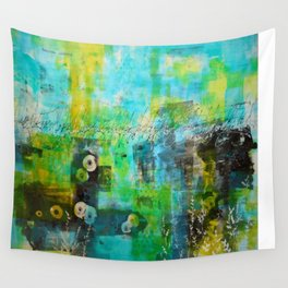 Abstract Blue in the Breeze Wall Tapestry