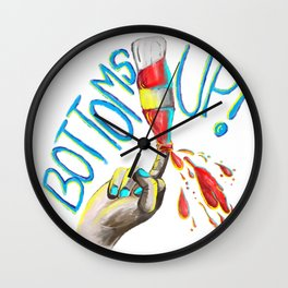 Bottoms up! Wall Clock