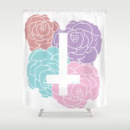 Crucirose  Shower Curtain
