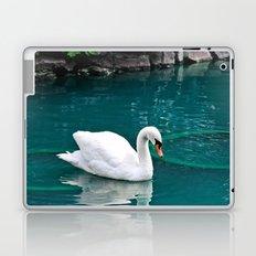 A lone swan Laptop & iPad Skin