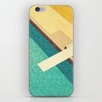 pool iPhone & iPod Skins featuring Pool by Herb Vaine
