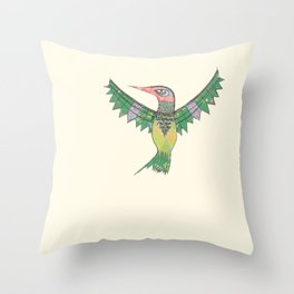 Stich & Fauna : Hummingbird Throw Pillow
