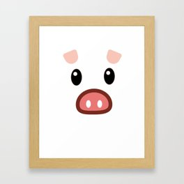 pig chinese new year year funny gift Framed Art Print