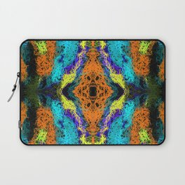 psychedelic graffiti geometric drawing abstract in orange yellow blue purple Laptop Sleeve