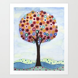 Polka Dot Tree Art Print