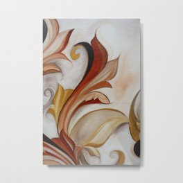 Floral Scroll Series-no.777 Metal Print