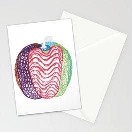 vegetables, pepper, multicolor, drawing, bebicervin Stationery Cards