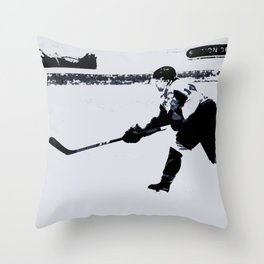 He shoots, He scores! - Hockey Player Throw Pillow