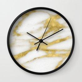 Bari golden marble Wall Clock