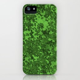 Green Hybrid Camo Pattern iPhone Case