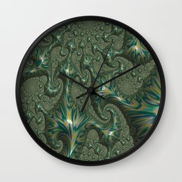 Green Oxidation Wall Clock