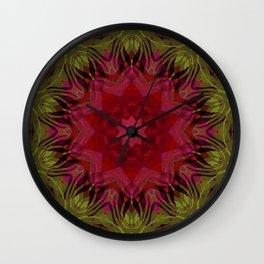Crimson kaleidoscope. Wonderful design. Bright , juicy. Wall Clock