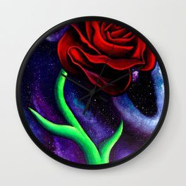 Space Rose Wall Clock