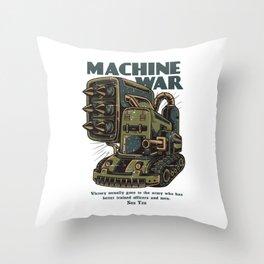Steampunk Machine War Throw Pillow