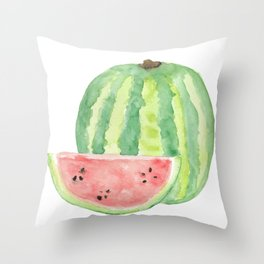 Watermelon Watercolour  Throw Pillow