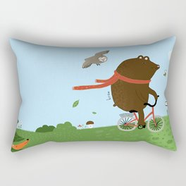 The Bear goes to the City Rectangular Pillow