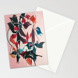 The Mystery- Dark Floral Mixed Media Decoupage  Stationery Cards