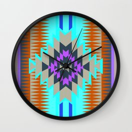 American Native Pattern No. 96 Wall Clock
