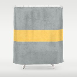 gray and yellow classic Shower Curtain