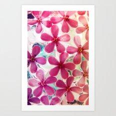 Flowers in crystal Art Print