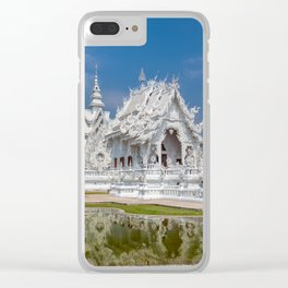 White Temple Thailand Clear iPhone Case