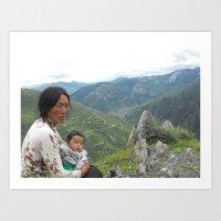 Grandmother Tibet Art Print