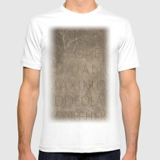 rome White SMALL Mens Fitted Tee