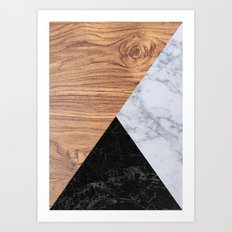Marble Granite Wood Art Print