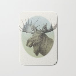 Moose head elk Bath Mat