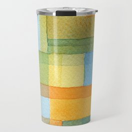 City by a river -watercolour after Paul Klee Travel Mug