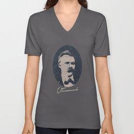 Nietzsche Philosophy Nihilism God Is Dead Gott Ist Tot Schopenhauer Kant Nihilismus Unisex V-Neck