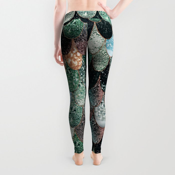 SUMMER MERMAID SEAWEED MIX by Monika Strigel Leggings