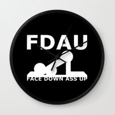 FDAU - Face Down Ass Up Wall Clock