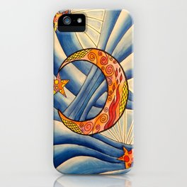 Moon & Stars iPhone Case