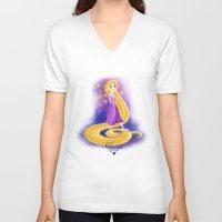 rapunzel V-neck T-shirts featuring Rapunzel by Khatii