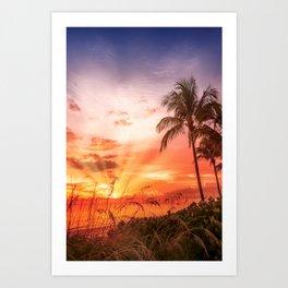 BONITA BEACH Picturesque Sunset Art Print