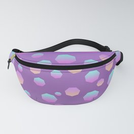 Purple Blue Pink Gradient Polygon Fanny Pack