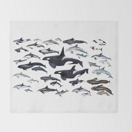 Dolphin diversity Throw Blanket