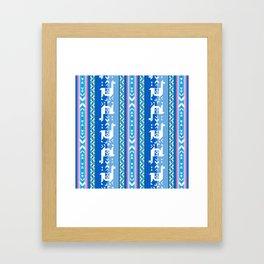 Llamas_Pink and BlueSky Framed Art Print
