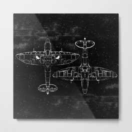 Spitfire Mk. XIV (Dark) Metal Print